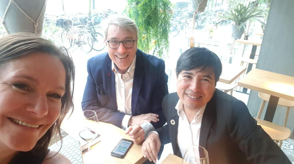 Amsterdam, Netherlands   Ineke, Peter and Antonio preparing the launch of our Amsterdam offering 2019  July 2019
