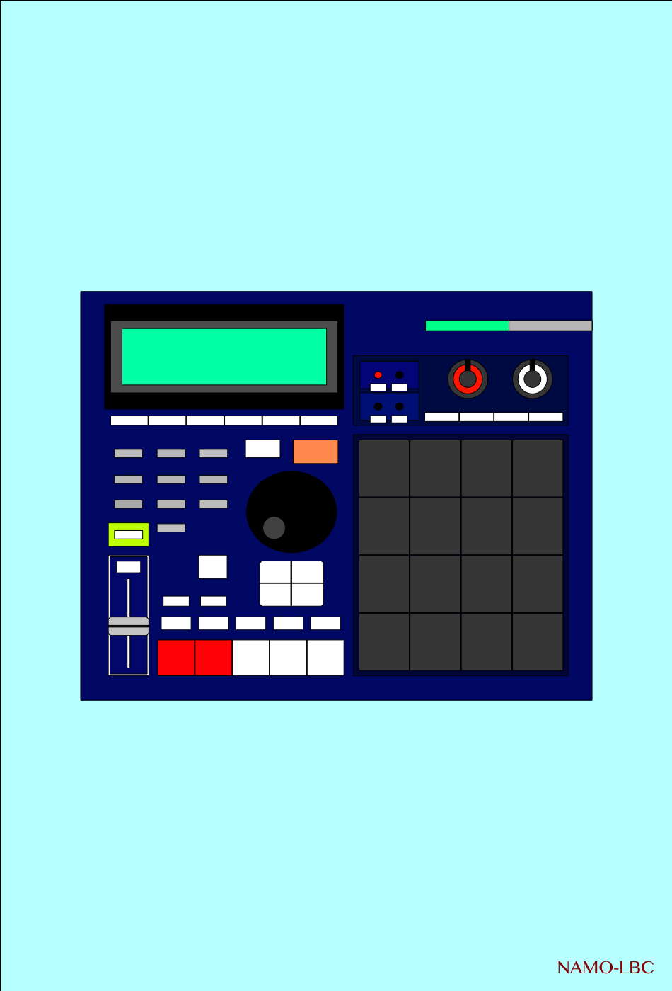 MPC 2000XL BLUE SKIN