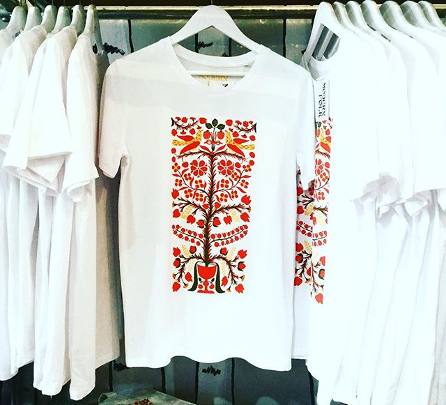 The sun is back in London, so why not to come and buy a cool t-shirt, printed with Transylvanian patterns? Tree of Life is one of the strongest symbols of Romanian culture, means protection, abundance, regeneration and eternal life. #thisisnotatshirt #ismorethantthat #transylvania #symbols #tree #treeoflife #abundance #eternal #life #protection #pattern #hungary #romania #exhibition #folk #modernfolk #uk