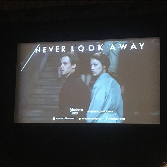 Don't go to film premieres. Looking forward to this! #neverlookaway