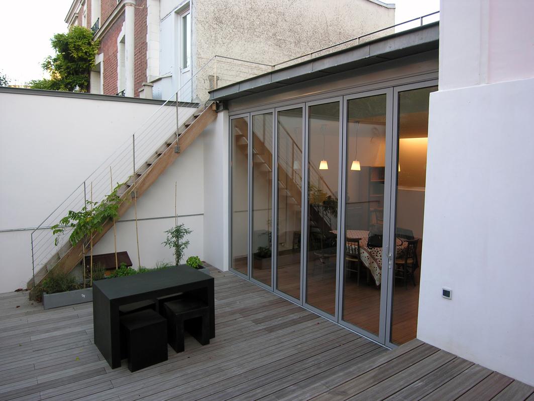Atelier Prevost architectes - extension d'une maison a asnieres sur seine