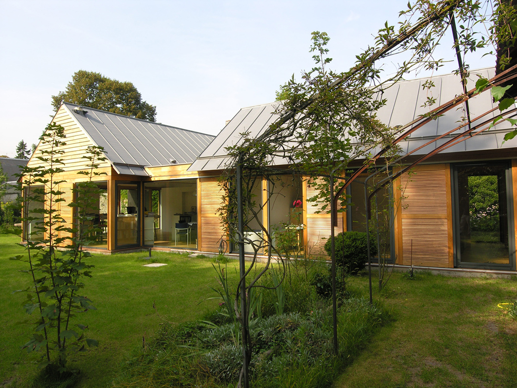 Atelier Prevost architectes - maison a ossature bois a l'Isle-adam