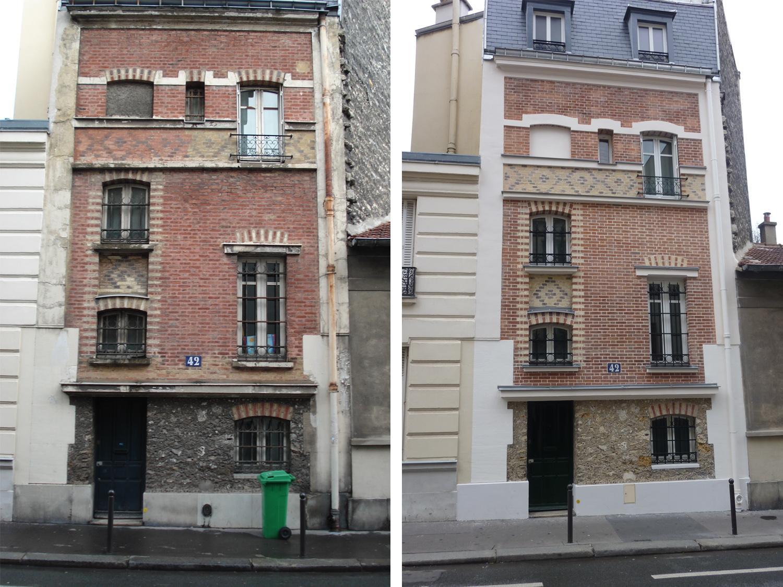 Atelier Prevost architectes - Ravalement d'un hotel particulier a Paris