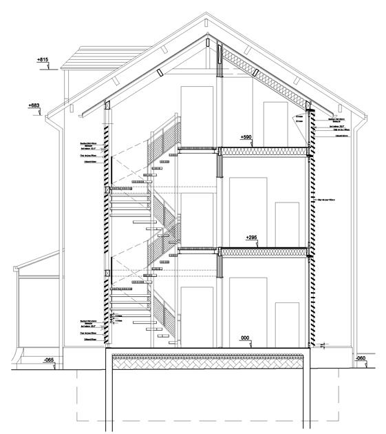 Atelier Prevost architectes - rehabilitation pour la creation de trois logements a Mours