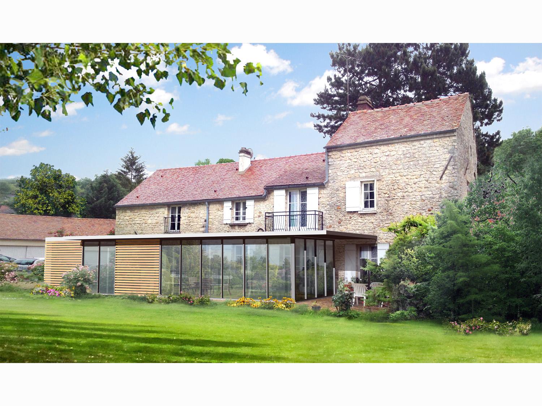 Atelier Prevost architectes - extension d'une maison individuelle à Presles