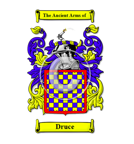 Source: houseofnames.com   I  n keeping with the theme of 'reflecting on the Druces journey' and the combination of retrospective and future-gazing elements of our 250th anniversary, initial research centred on the ancient coat of arms and family crest for the 'Druce' name. Elements of these originals helped to shape our vision for the 250 logo.