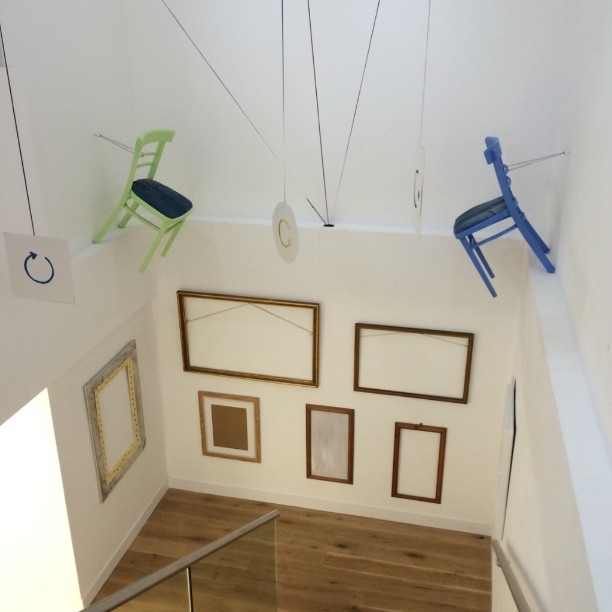 Chairs and frames an exhibition at Viking Gallery Margate where every work is up cycled, changed recycled having a new life.Lovely cheerful colourful art to make you smile. It lifts the heart