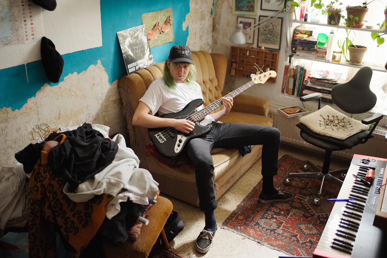 David in his bedroom, Berlin, 2016