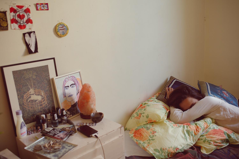 V in her bedroom  , Melbourne, 2017
