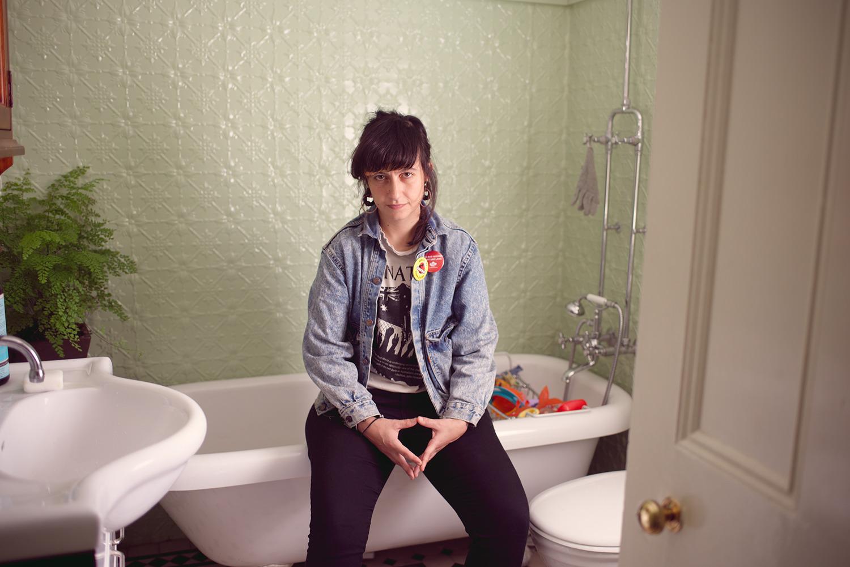 T.J. in her bathroom, Sydney, 2017