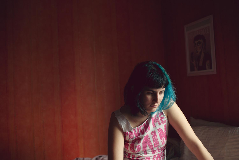Daniella in her bedroom, Bagnolet, France, 2017