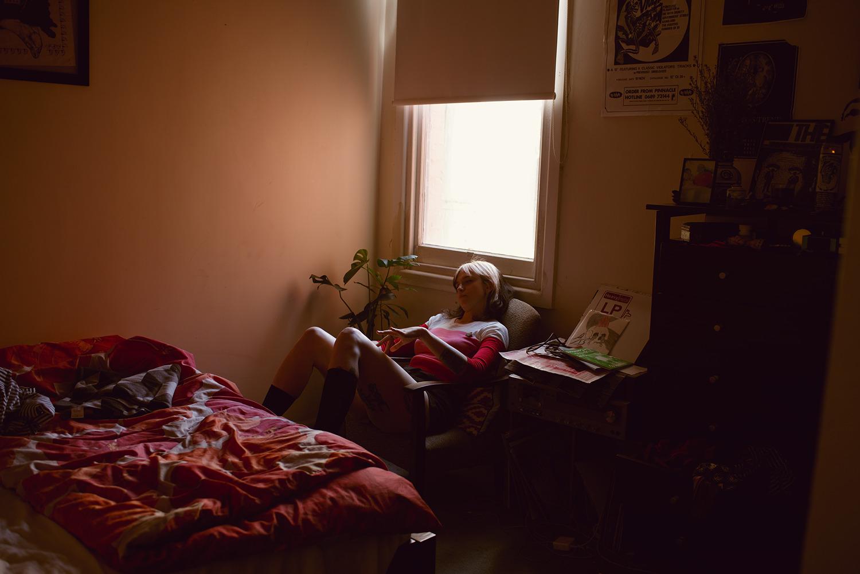 Lena in her bedroom, Melbourne, 2018