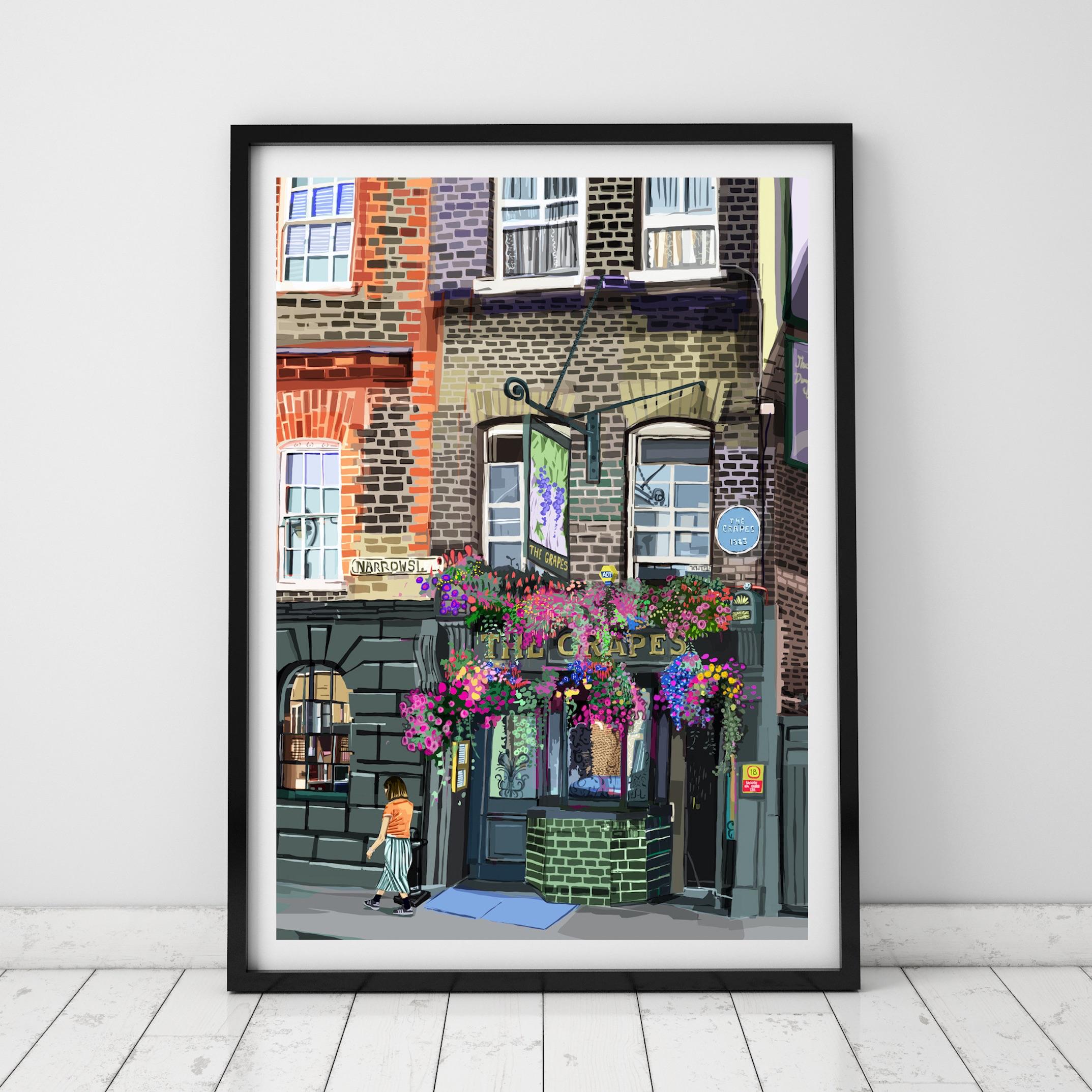 The Grapes, Limehouse (Black Framed Square).jpg