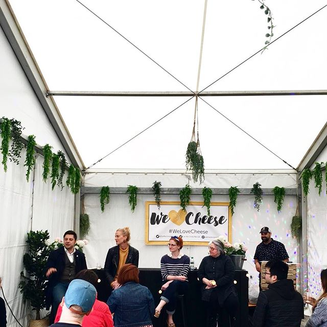 Fabulous talk curated by @itscharlottewilde ⠀⠀ on having a more mindful approach to the way we eat, purchase and consume food w/⠀⠀ ⠀⠀ @ylva_j_⠀⠀ @foodmadegood⠀⠀ @unherdben⠀⠀ @katyjfenwick⠀⠀ @schoolofartisanfood⠀⠀ @patricia_michelson⠀⠀ ⠀⠀ Still to come:⠀⠀ ⠀⠀ 4pm: Cheese and Wine pairing ⠀⠀ 5pm: The New Generation of Cheese - Panel Talk ⠀⠀ .⠀⠀ .⠀⠀ .⠀⠀ #cheesefest #cheesefestival #cheeselover #lovecheese #cheeseplease #cheeseevent #talks⠀⠀