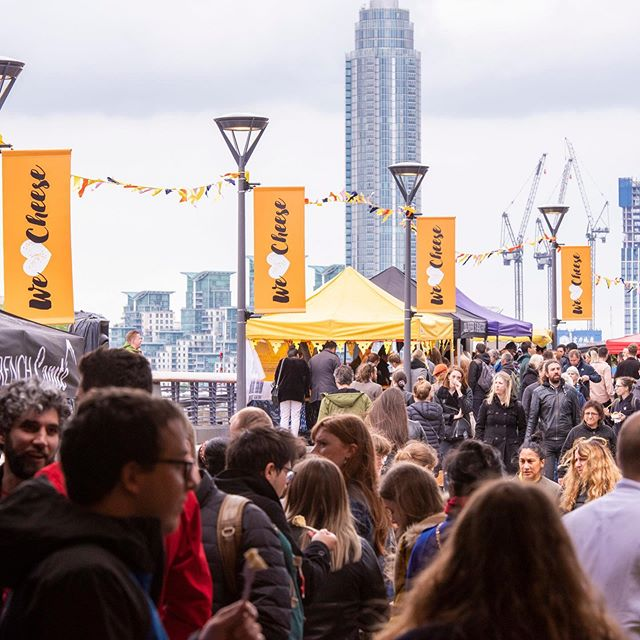 Day 1 of #WeLoveCheese was a dream 🧀💛⠀⠀ ⠀⠀ Come join us as we do it all over again until 5pm @batterseapwrstn⠀⠀ ⠀⠀ Swipe right for some highlights of Day 1⠀⠀ cheesy stalls ✔⠀⠀ epic street food ✔⠀⠀ pop-up bars ✔⠀⠀ ⠀⠀ choir performances ✔⠀⠀ live music ✔⠀⠀ talks, panels and masterclasses ✔⠀⠀ .⠀⠀ .⠀⠀ .⠀⠀ .⠀⠀ #foodstagram #foodie #cheeselovers #cheese #wineandcheese #batterseapowerstation ##ThingsToDoInLondon #ThingsToDoLondon #OnlyInLondon #LotiLoves #ThingsToDo #freelondon
