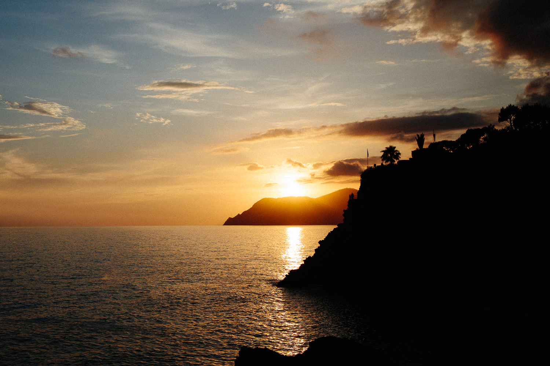 Solnedgang i Cinque Terre