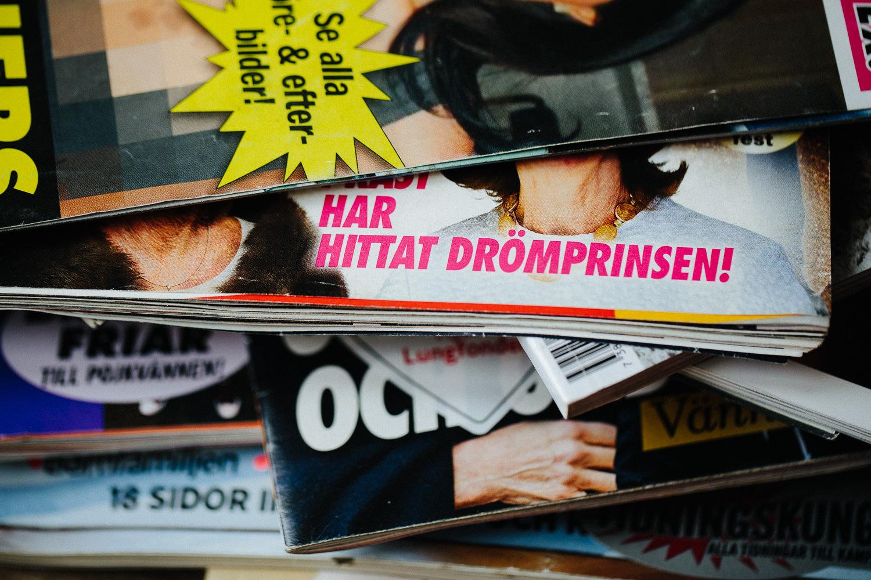Svenske ukeblader i frisørsalongen
