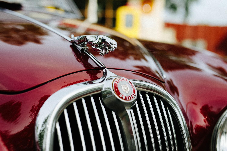 Jaguar veteranbil bryllup
