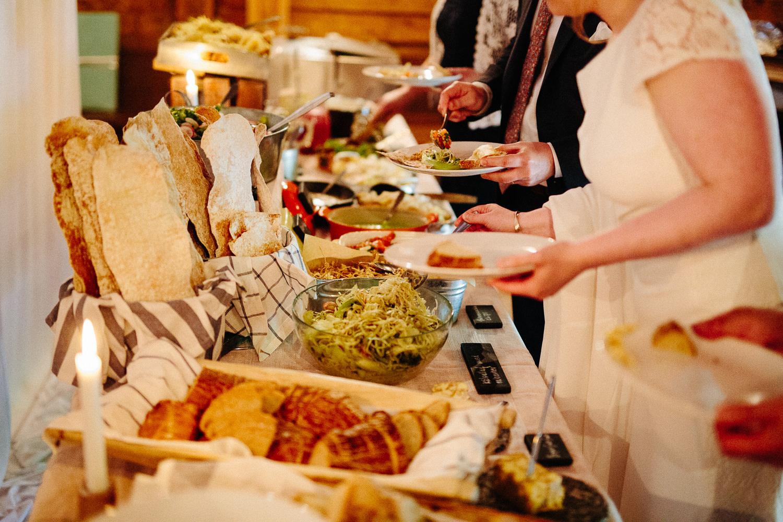 Tapas grillbuffet utradisjonell bryllupsmiddag