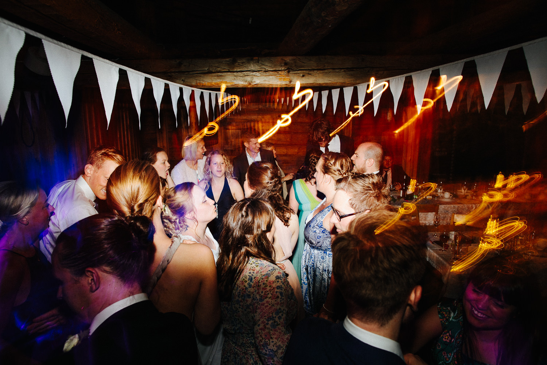 Bilde fra dansegulvet i bryllup