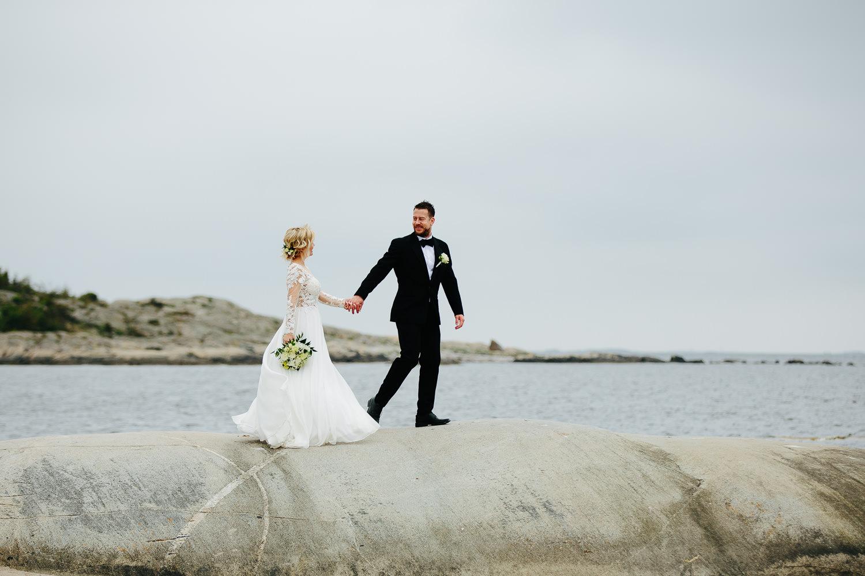 Bryllupsbilde på Storesand på Hvaler i Østfold.