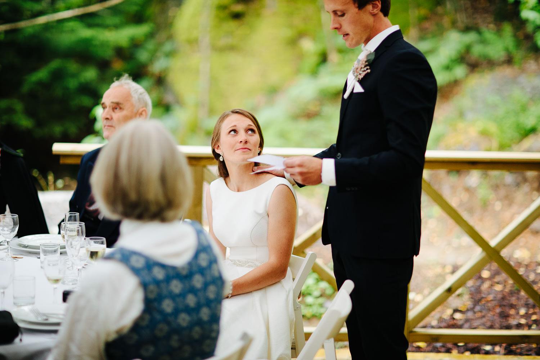 Utendørs bryllup i Østfold.
