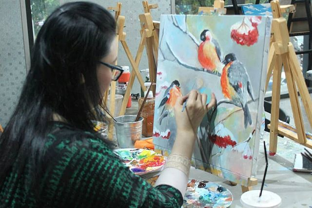 I would like to paint the way a bird sings - Claude monet  #artiweekdays #artipaintbar