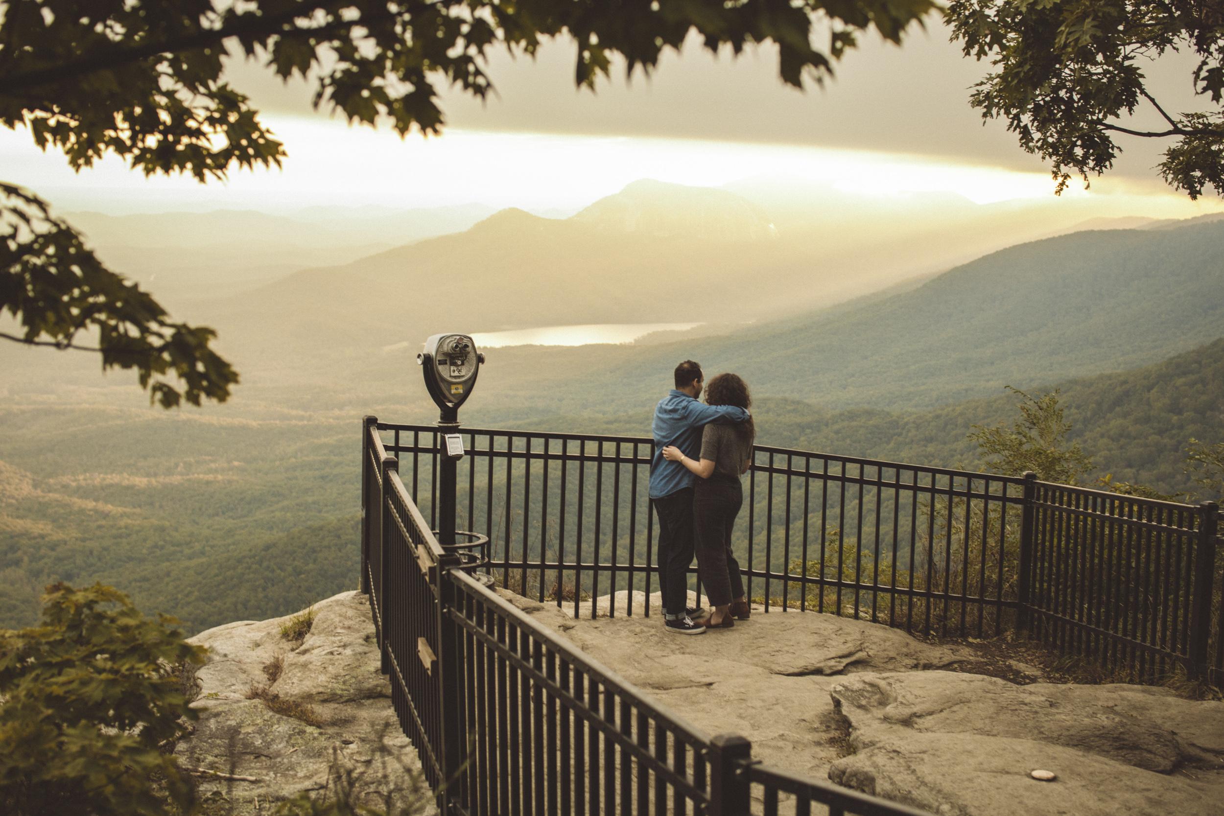 Engagement Session - Caesars Head, Bald Rock, Greenville South Carolina