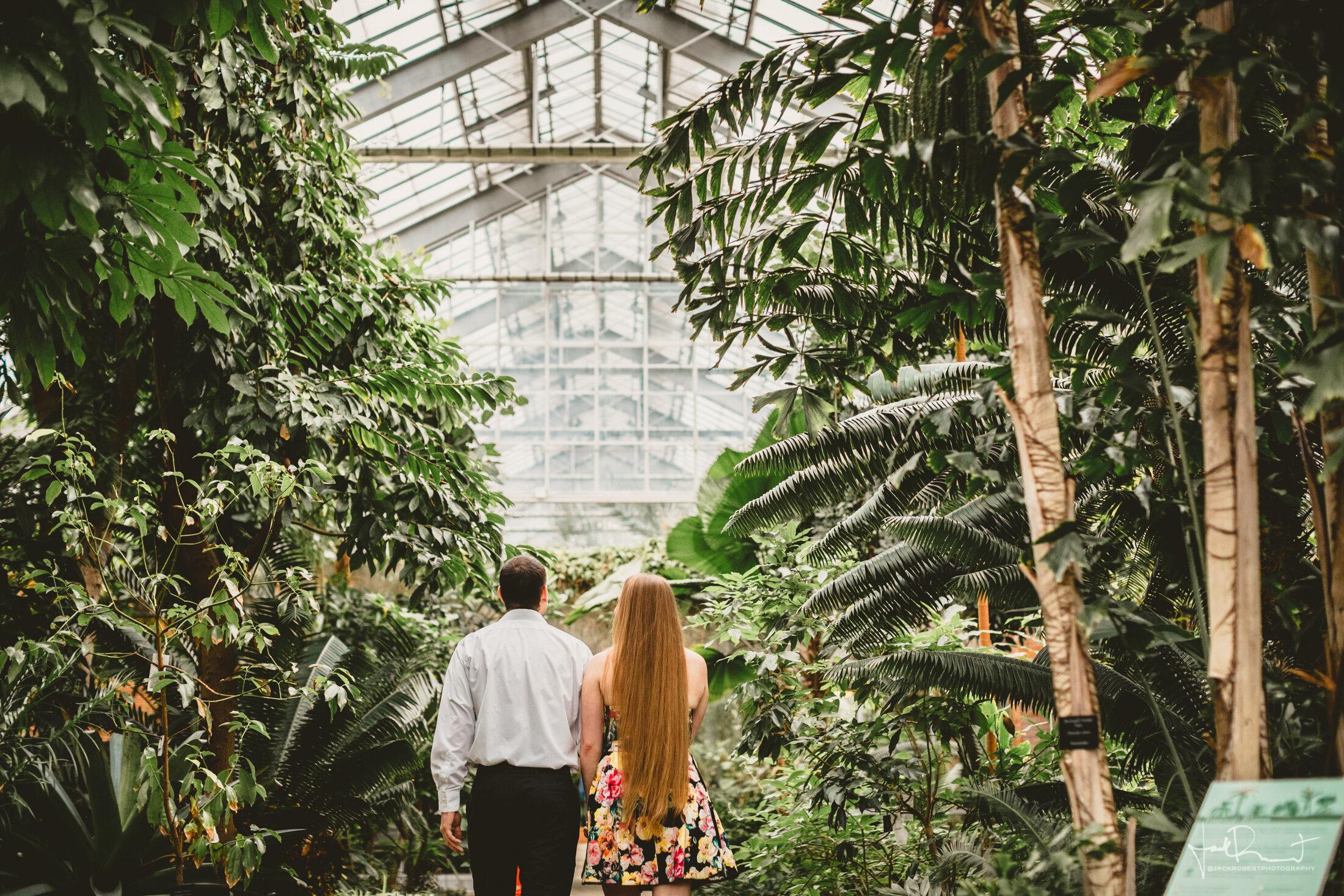 Greenhouse Conservatory Engagement Session - University of Michigan Matthaei Botanical Gardens