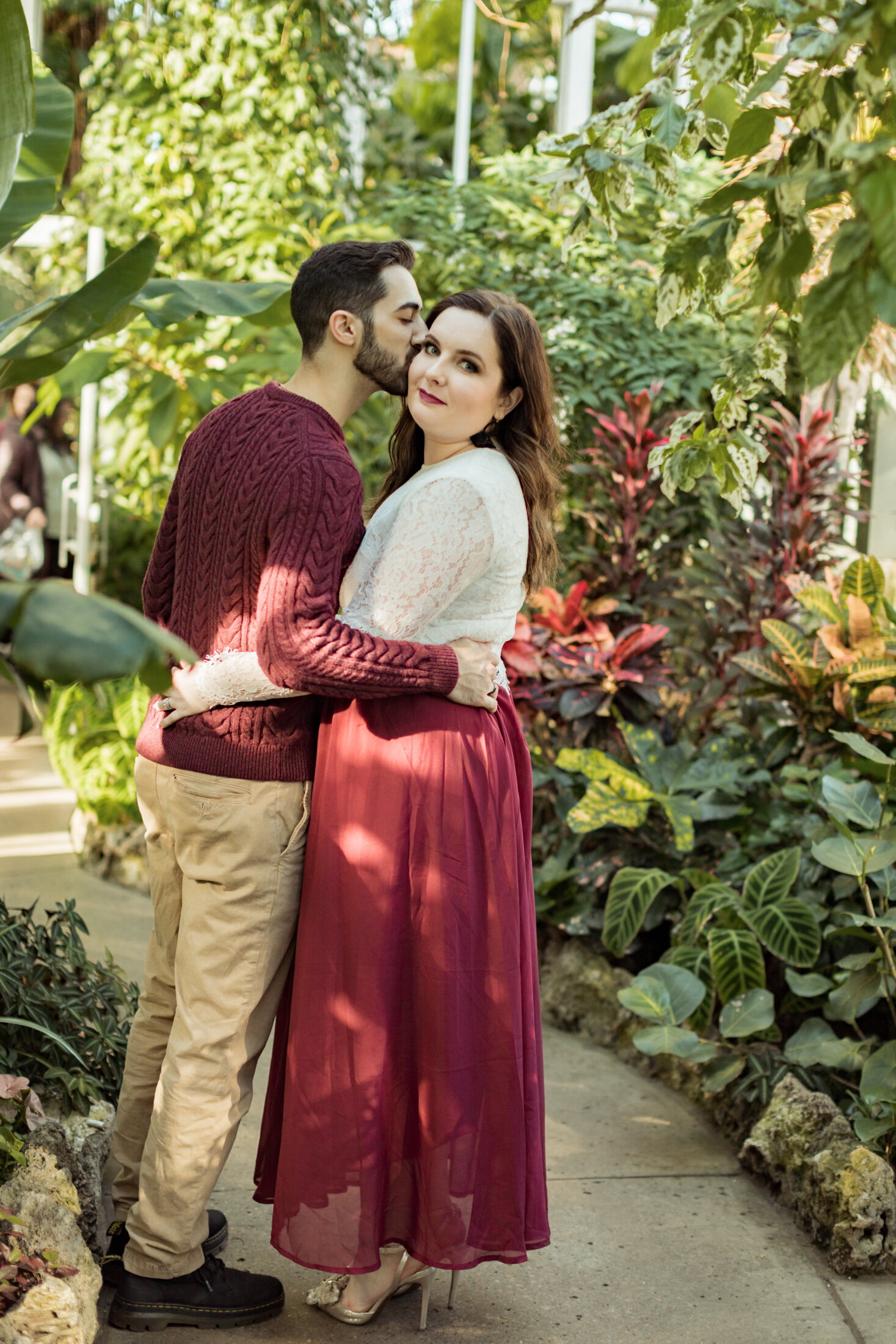 Winter Engagement Session - Belle Isle Casino, and  Anna Scripps Whitcomb Conservatory , Detroit, Michigan - Jack Robert Photography