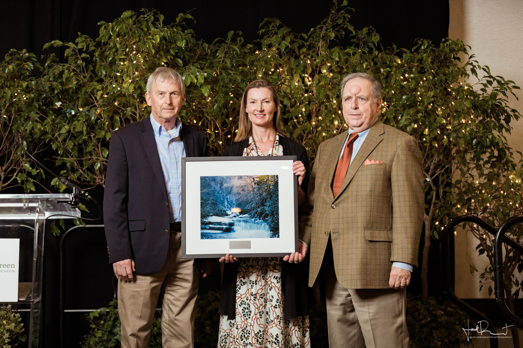 Tom Kester,  Andrea Cooper, E. ERWIN MADDREY II  Event Photography - Upstate Forever - Forever Green Luncheon - Embassy Suites, Greenville, South Carolina - Jack Robert Photography