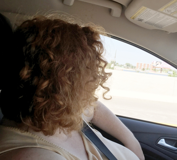 Me on the open road, somewhere in Ohio. Photo by Leigh Knight