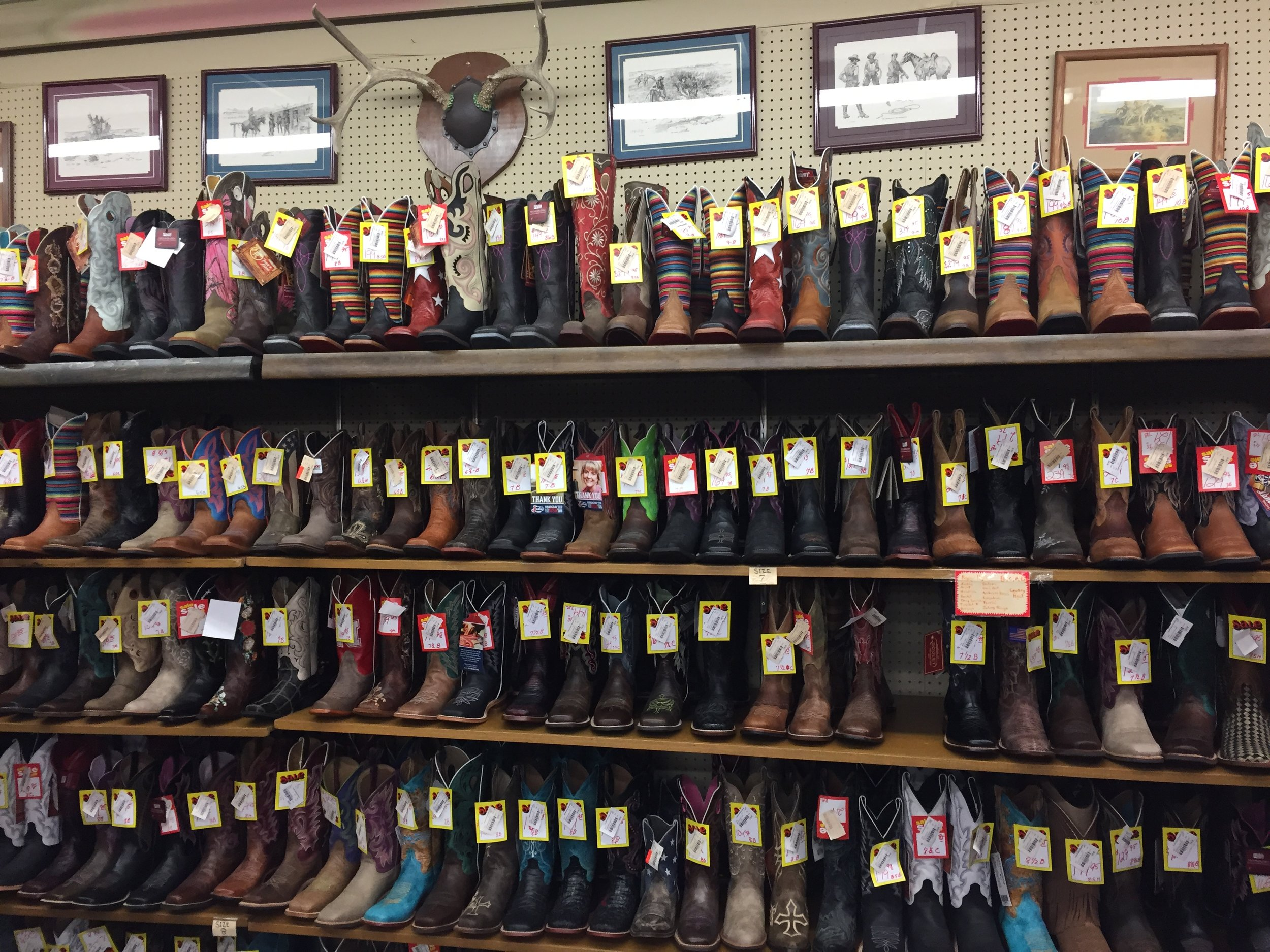 Young's Western Store, Valentine, Nebraska.  I've never seen so many cowboy boots.