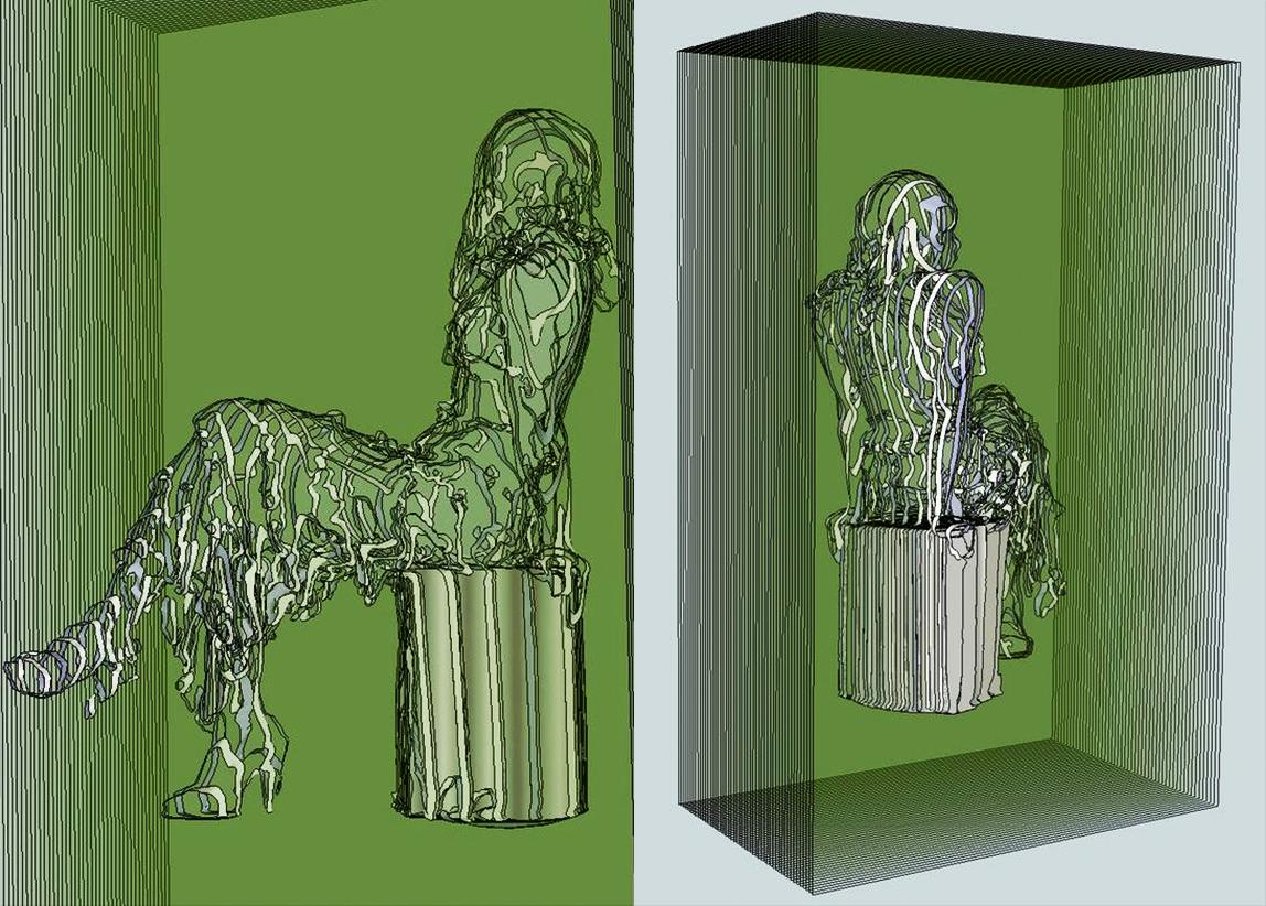 Ponderance , glass sculpture concept