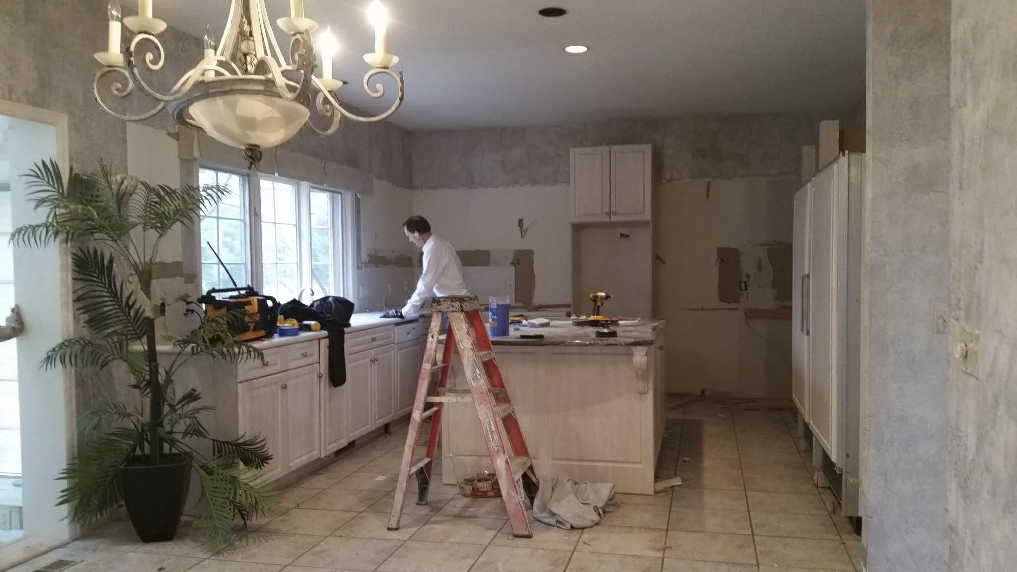 Kitchen demolition by Valle.
