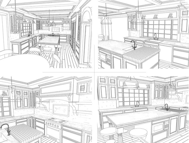 Kitchen concept perspectives