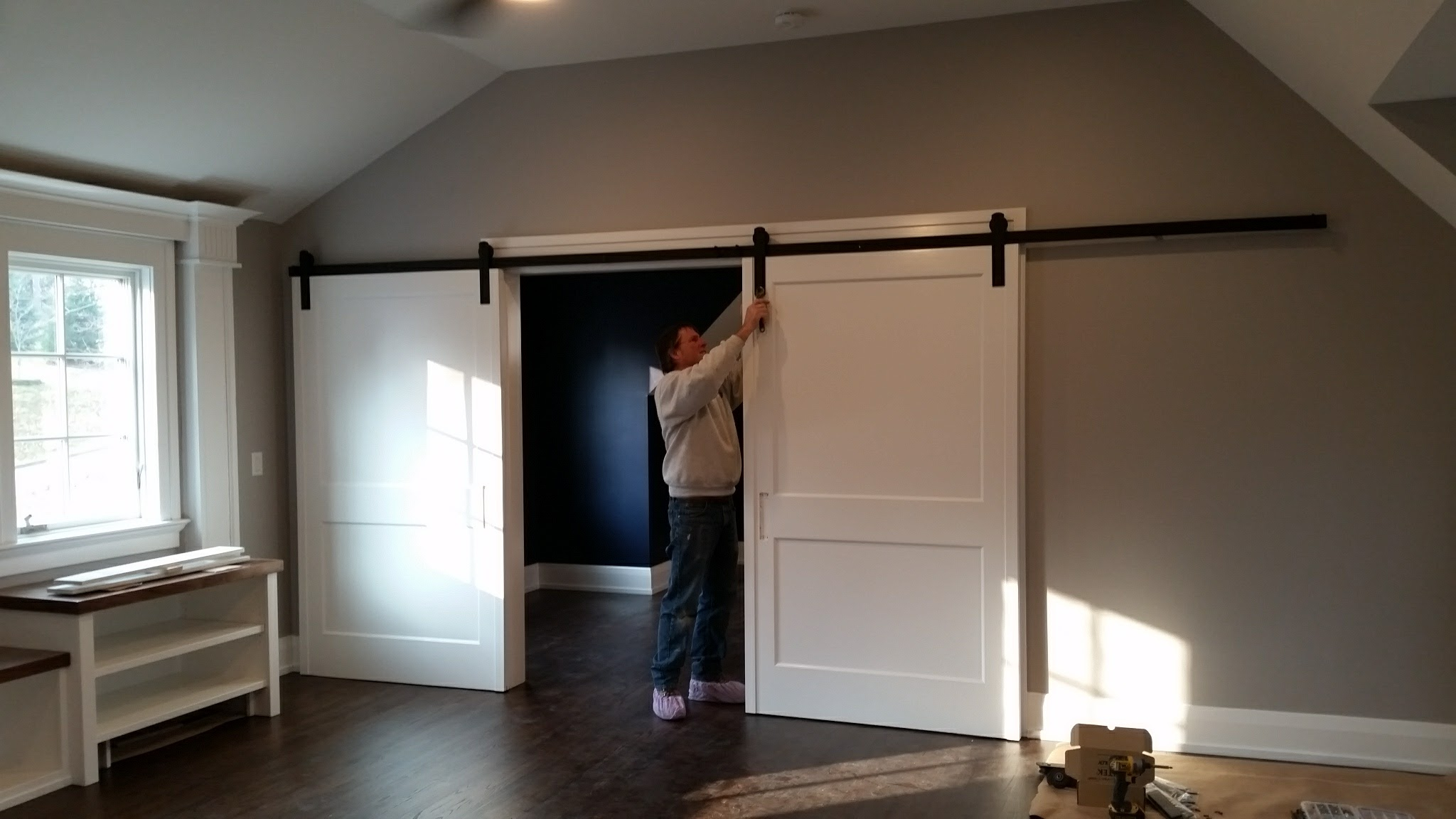 Installing barn doors