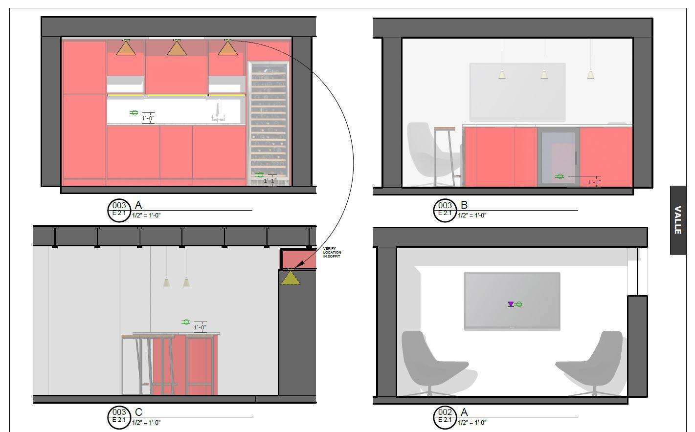 Interior Elevations and Lighting