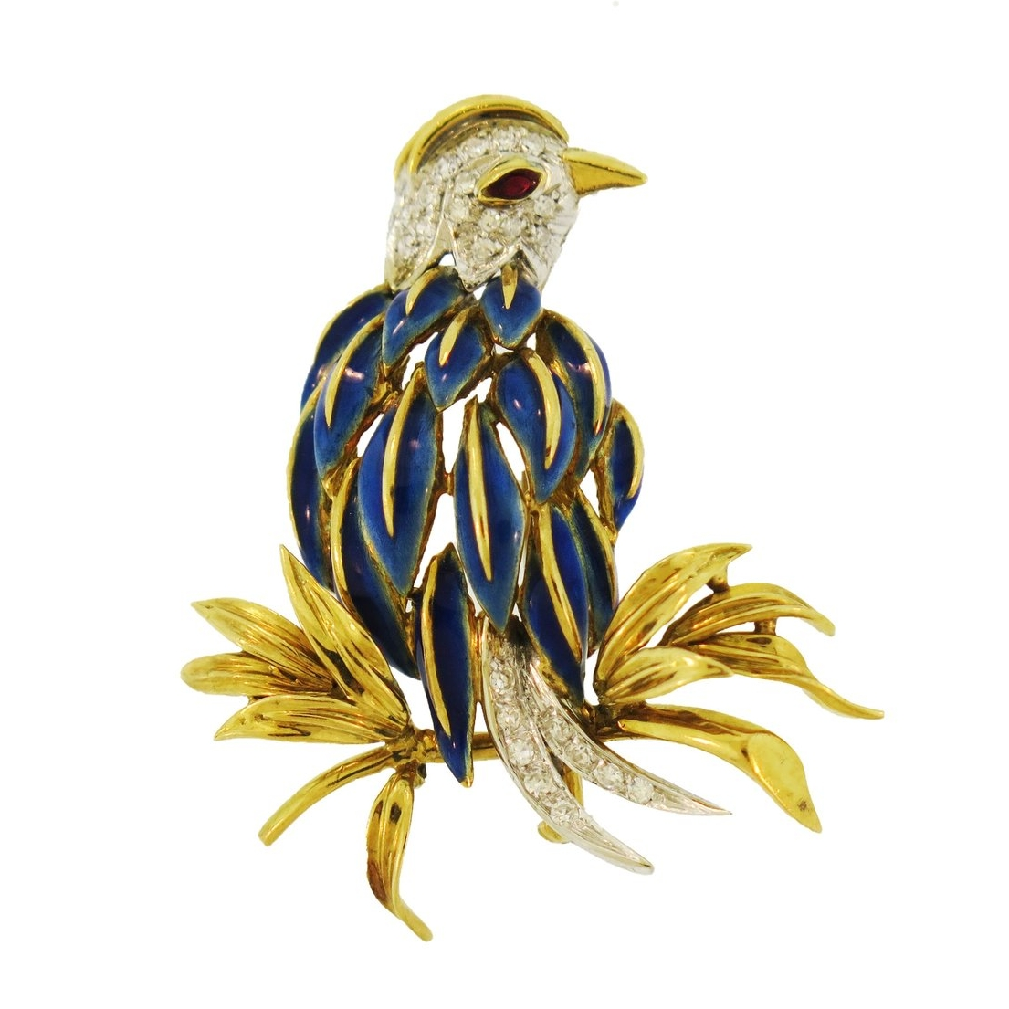 Tiffany & Co. Enamel & Diamond Bird