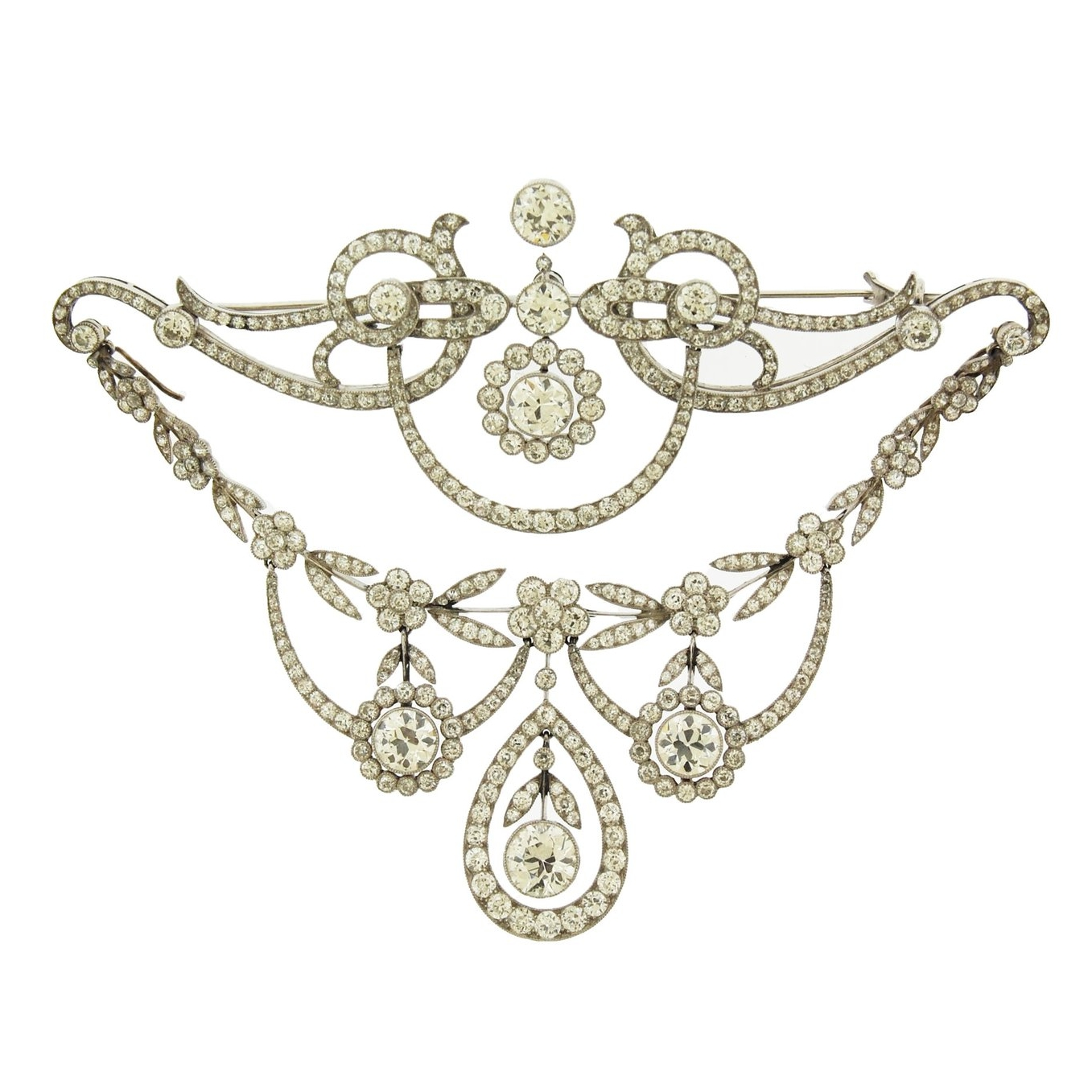 Edwardian Diamond Large Brooch