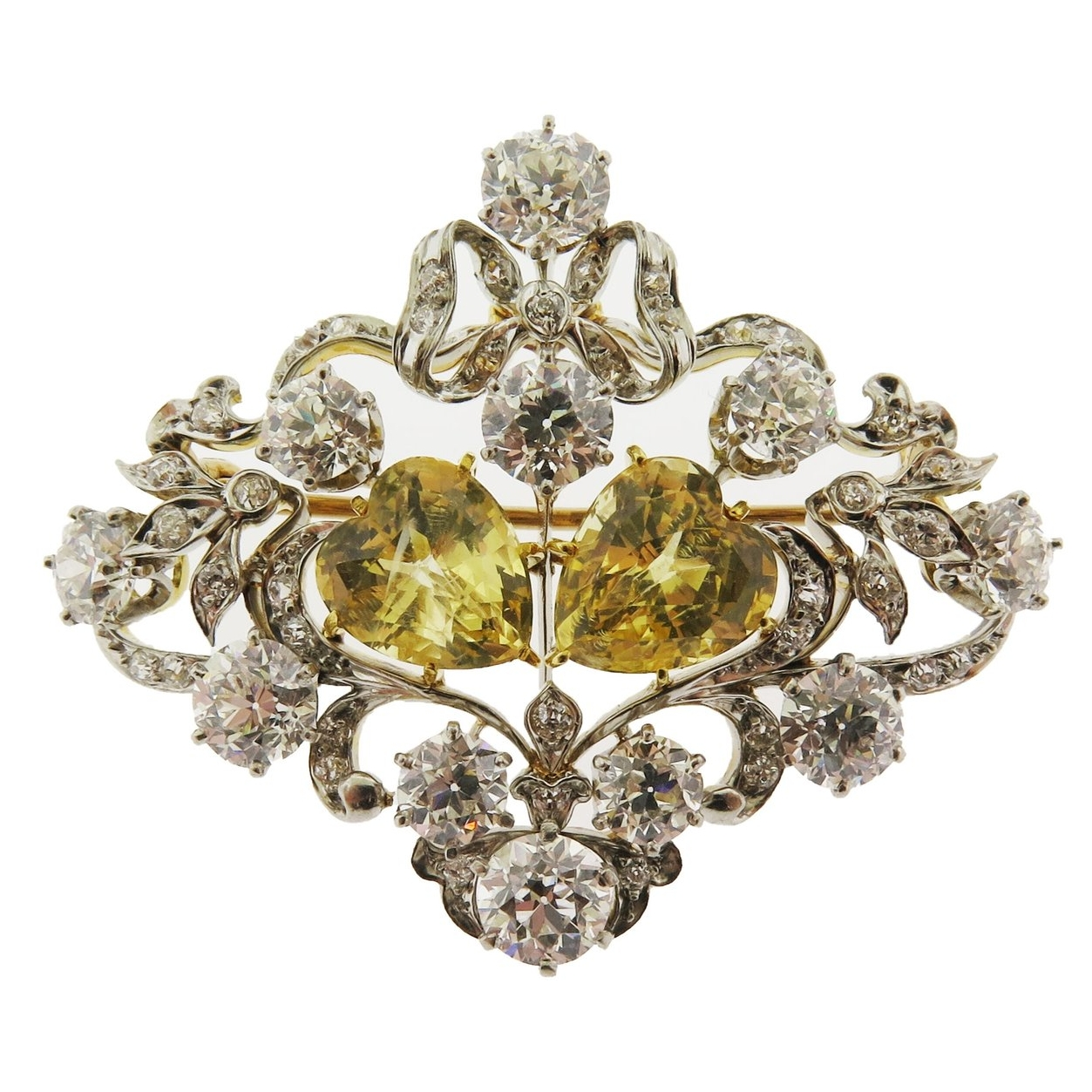 F. Walter Lawrence Diamond Brooch
