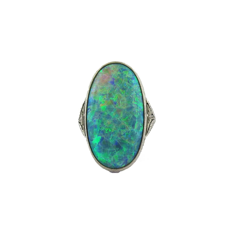 Edwardian Opal Ring by Walton & Co.