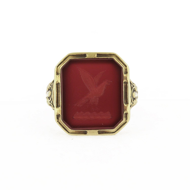 Late 19th Century Intaglio Carnelian Signet Ring