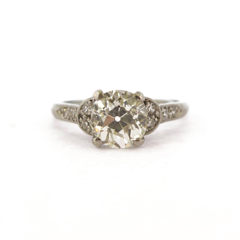 Deco 1.5 ct Diamond Platinum Ring