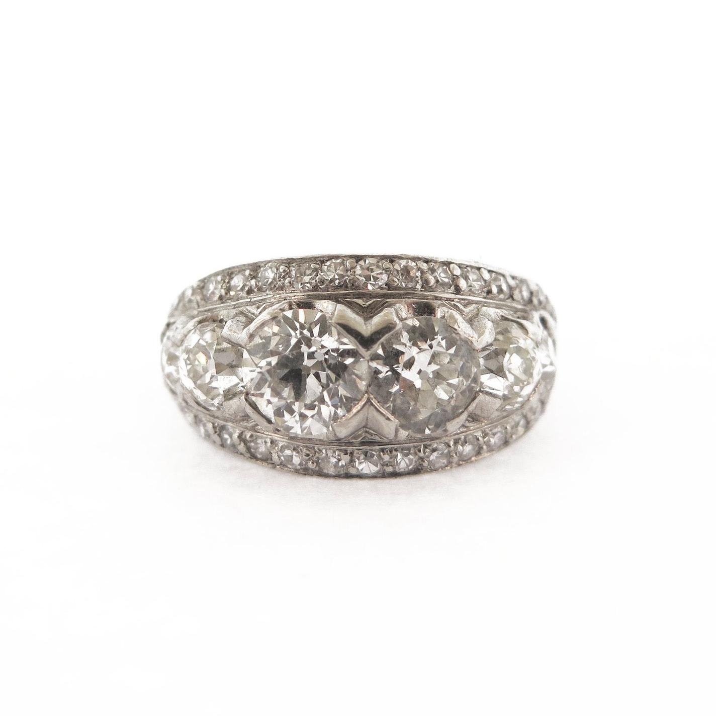 Five Stone Diamond Bandeau Ring