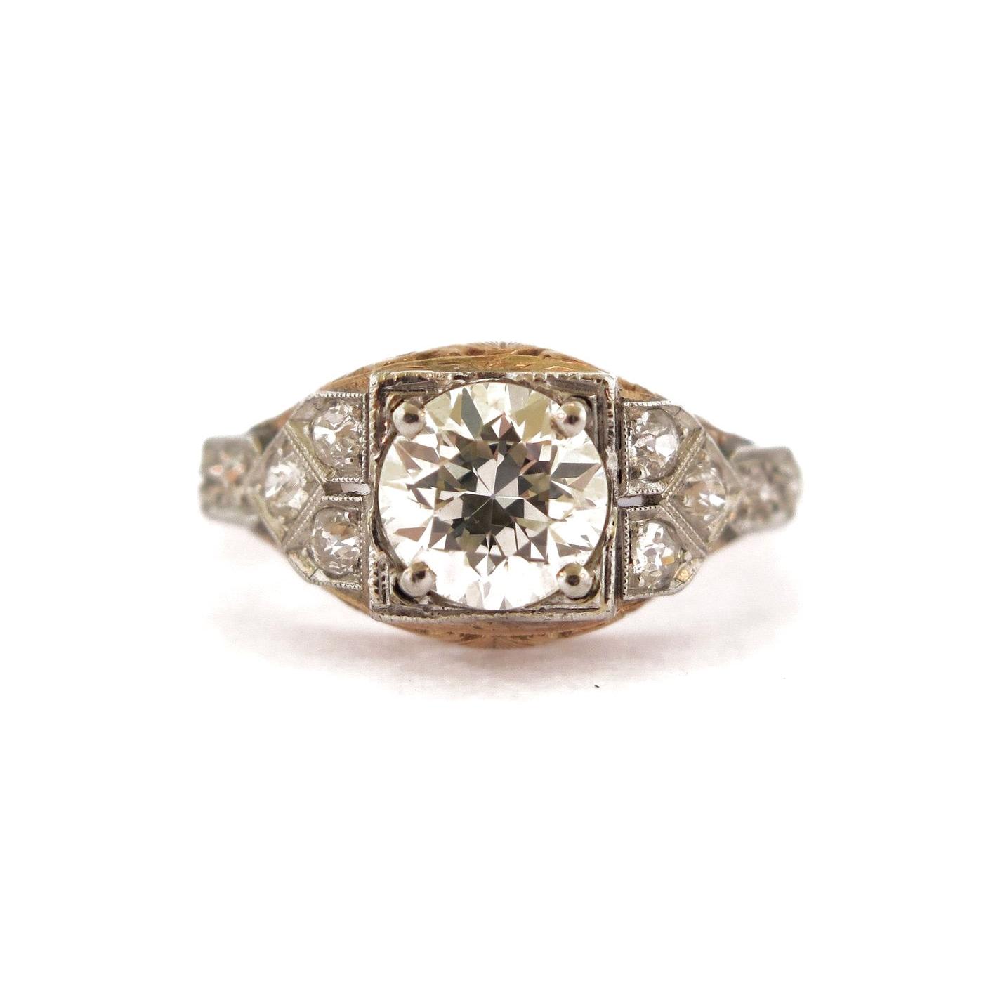 1 ct Two-Tone Diamond Ring