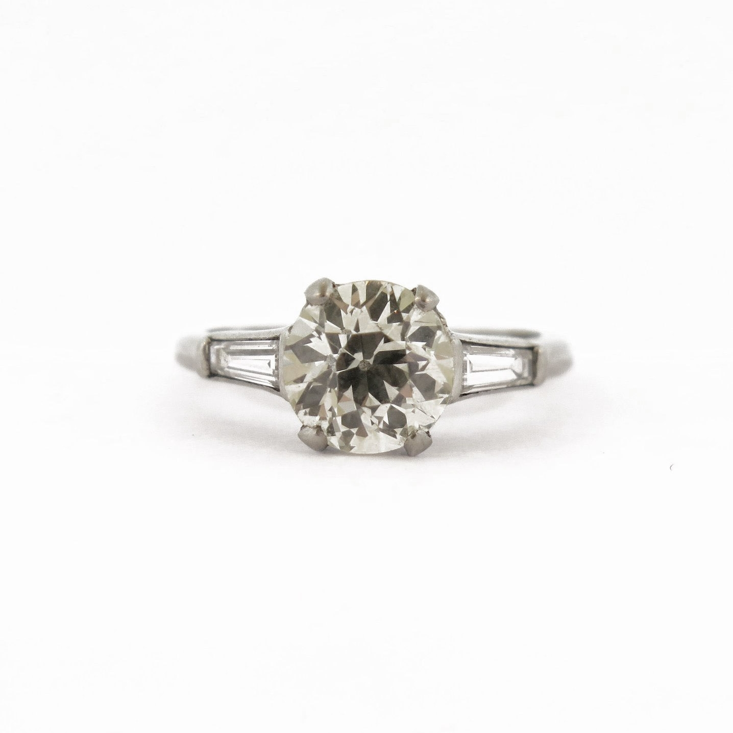1.5 ct Diamond with Baguette Accents
