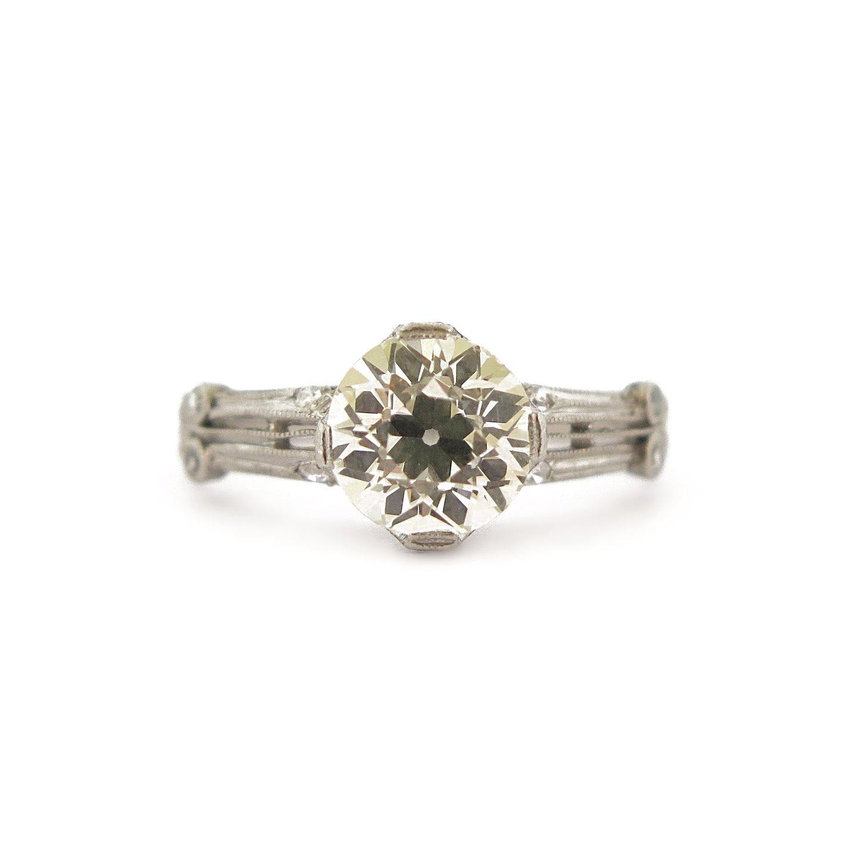 Deco Diamond Open Work Ring