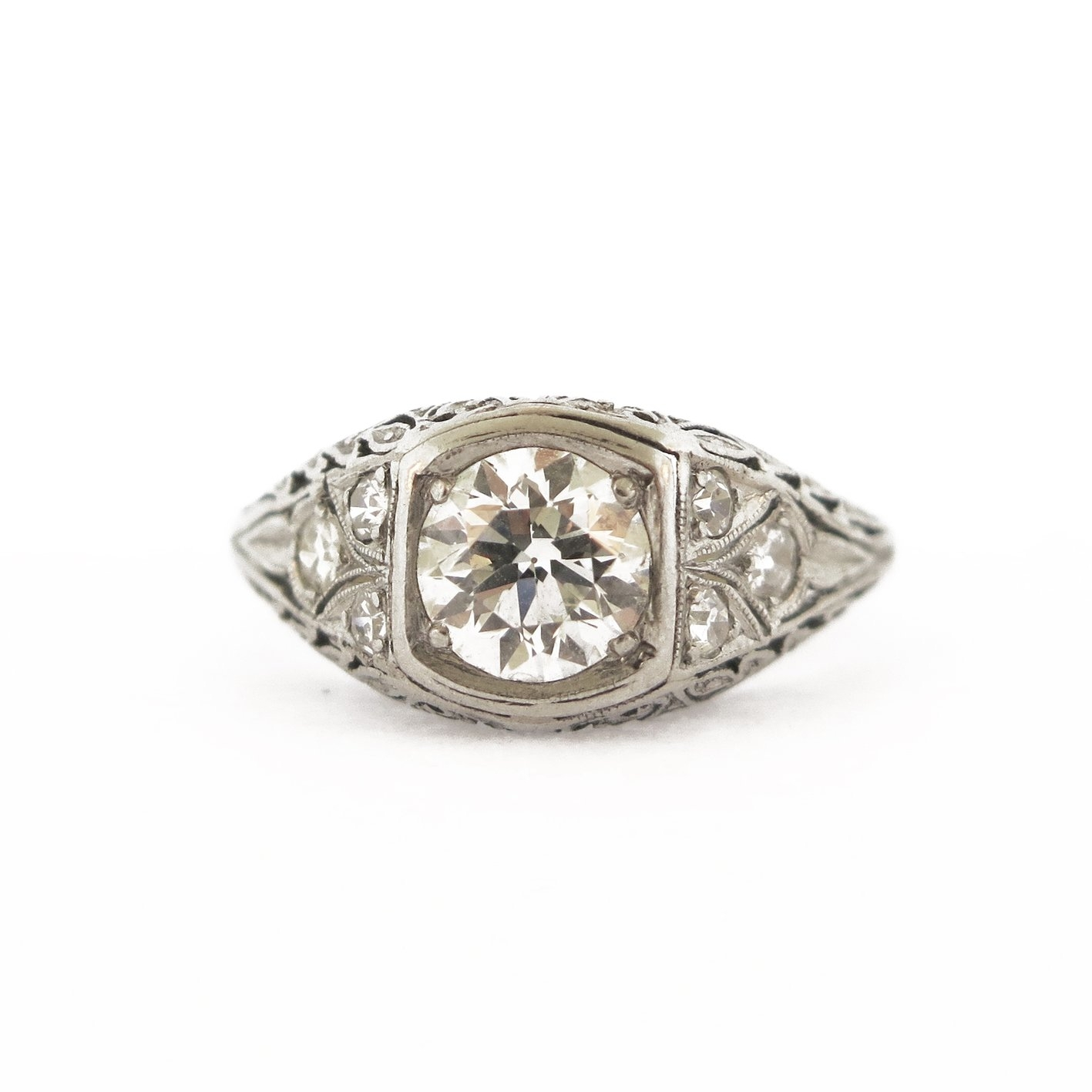 0.85 ct Diamond Filigree Ring