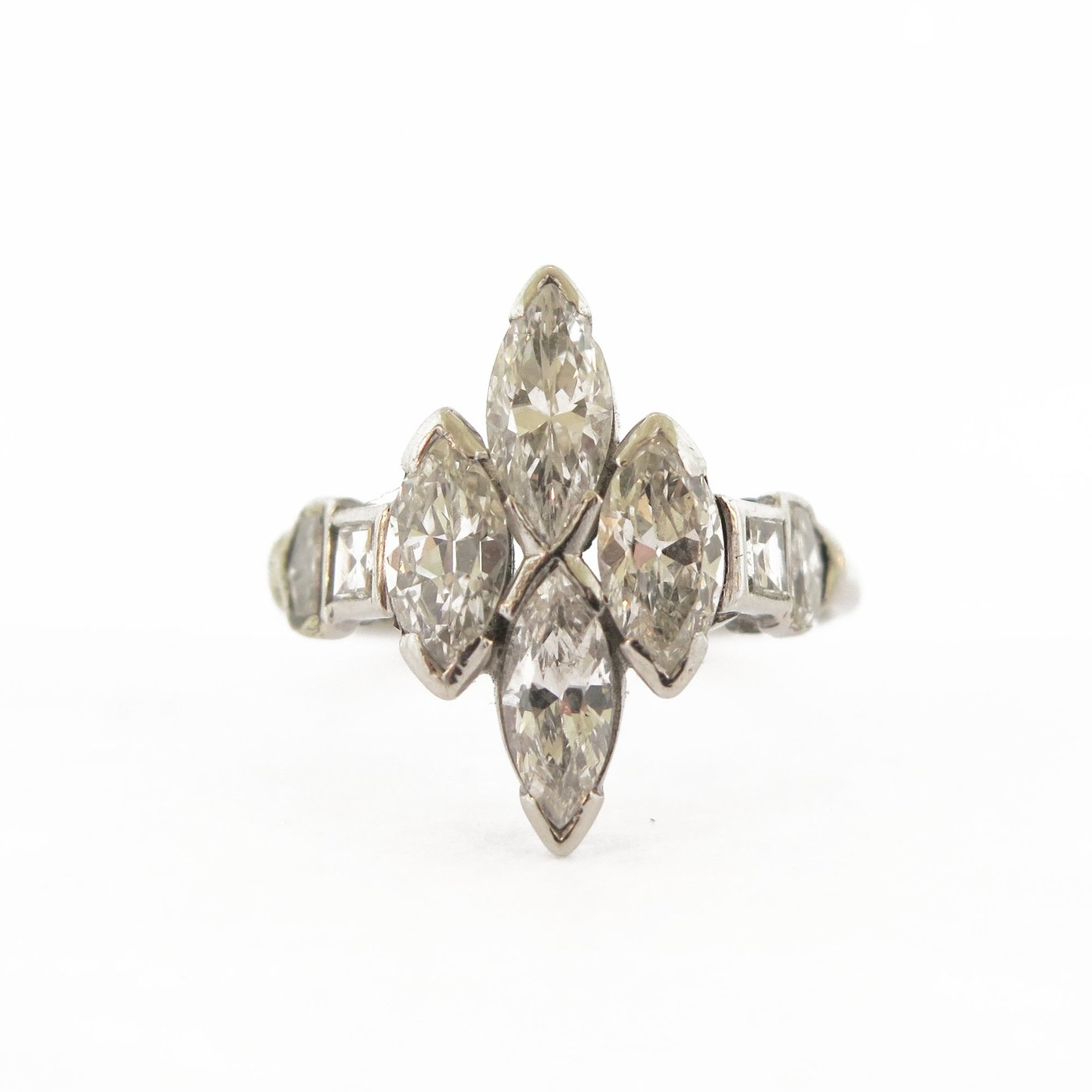 Navette Marquise Diamond Ring